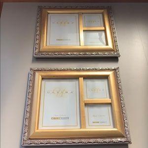 EUC 2 vintage gold tone picture frames